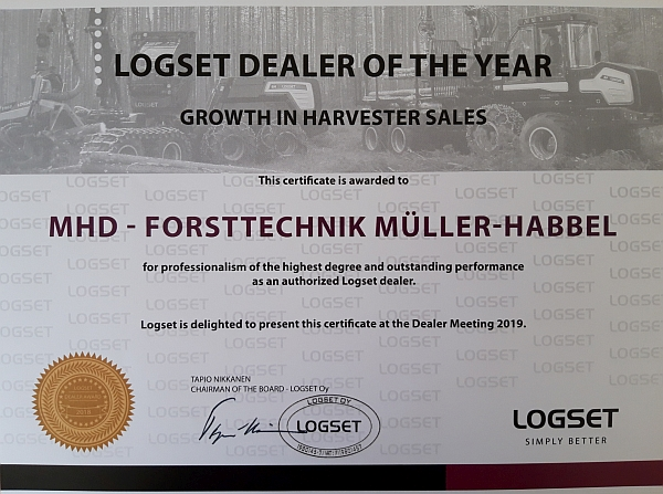 Logset Dealer of the Year k